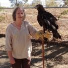 Joleen Maiden with sullivan the golden eagle